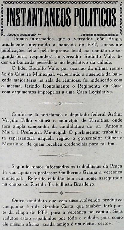 Vereador João Braga responderá Rodolfo Vale