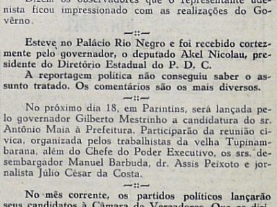 Deputado José Cláudio de Souza Assume o Governo do Estado
