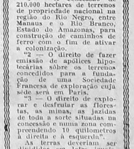 1ª Tentativa de Construção da Estrada de Ferro Manaus Boa Vista