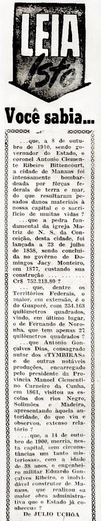Manaus foi Intensamente Bombardeada por Forças Federais
