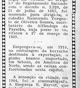 O Cinematógrafo em Manaus foi a Sensação da Cidade
