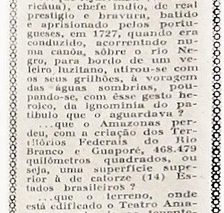 Chefe Índio Ajuricaba Aprisionado pelos Portugueses em 1927
