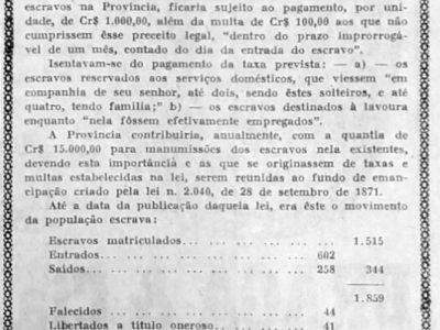 Contagem de Escravos na Província do Amazonas