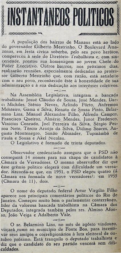 Nome de Arthur Virgílio é o mais comentado no Rio de Janeiro