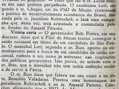 Políticos Defendem Candidatura de Marechal Teixeira Lott