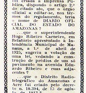Criação do Diário Oficial do Amazonas