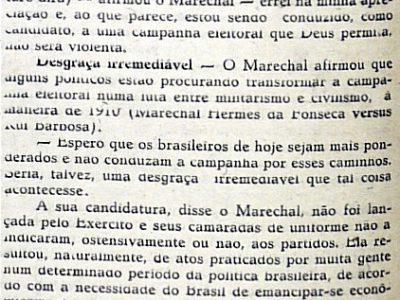 Candidatura do Marechal Teixeira Lott