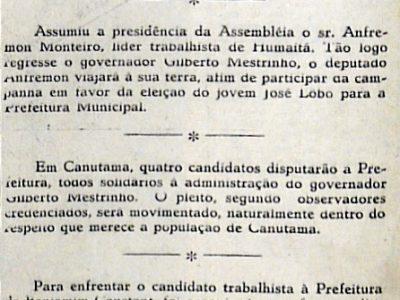 Deputado Anfremon Monteiro Assume a Assembleia