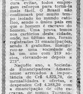 Sociedade Emancipadora Amazonense Realizou Diversos Festivais
