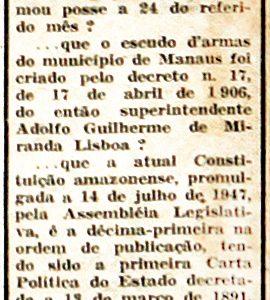 A Primeira Constituição do Amazonas decretada em 1891