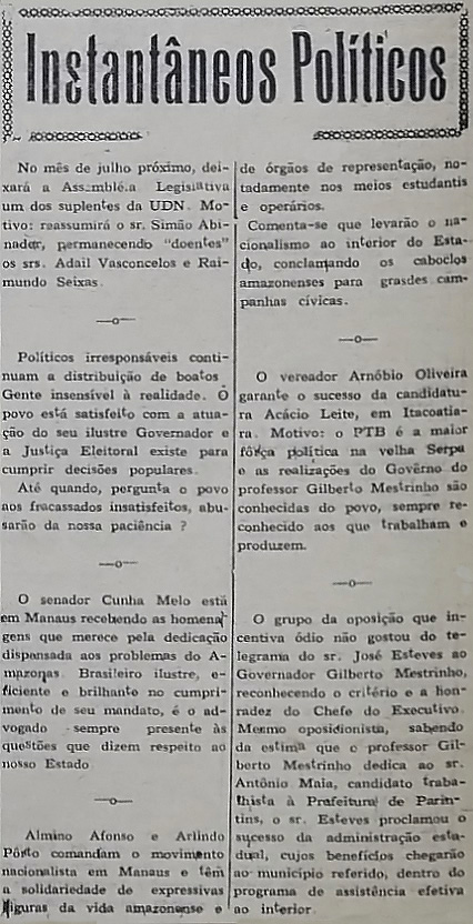 Senador Cunha Melo Recebe Homenagens por sua Dedicação