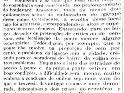 O traçado da Ponte de São Raimundo