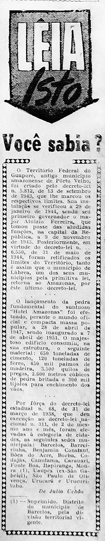 Lançamento da Pedra Fundamental do Hotel Amazonas