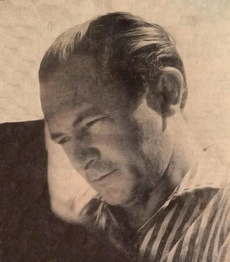 O pintor Moacir Andrade conhecido em todo o país