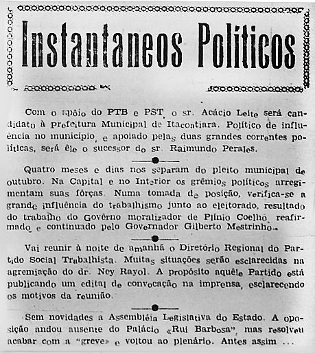 Governo moralizador de Plínio Coelho