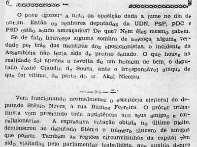 Eleição de Manuel Lins à Prefeitura de Fonte Boa