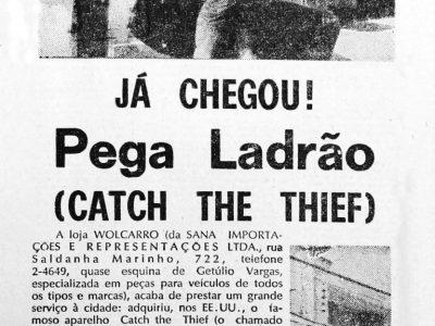 Catch the Thief, o pega ladrão