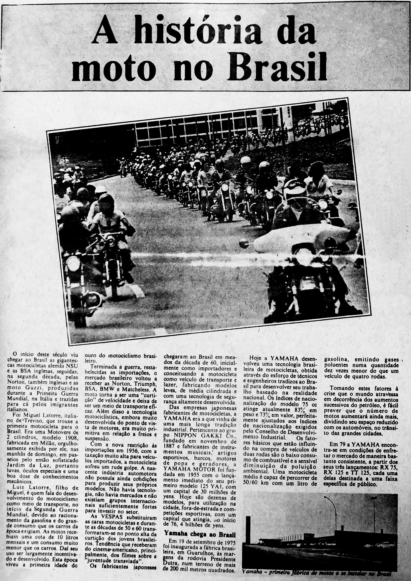 A chegada das motocicletas alemãs no Brasil