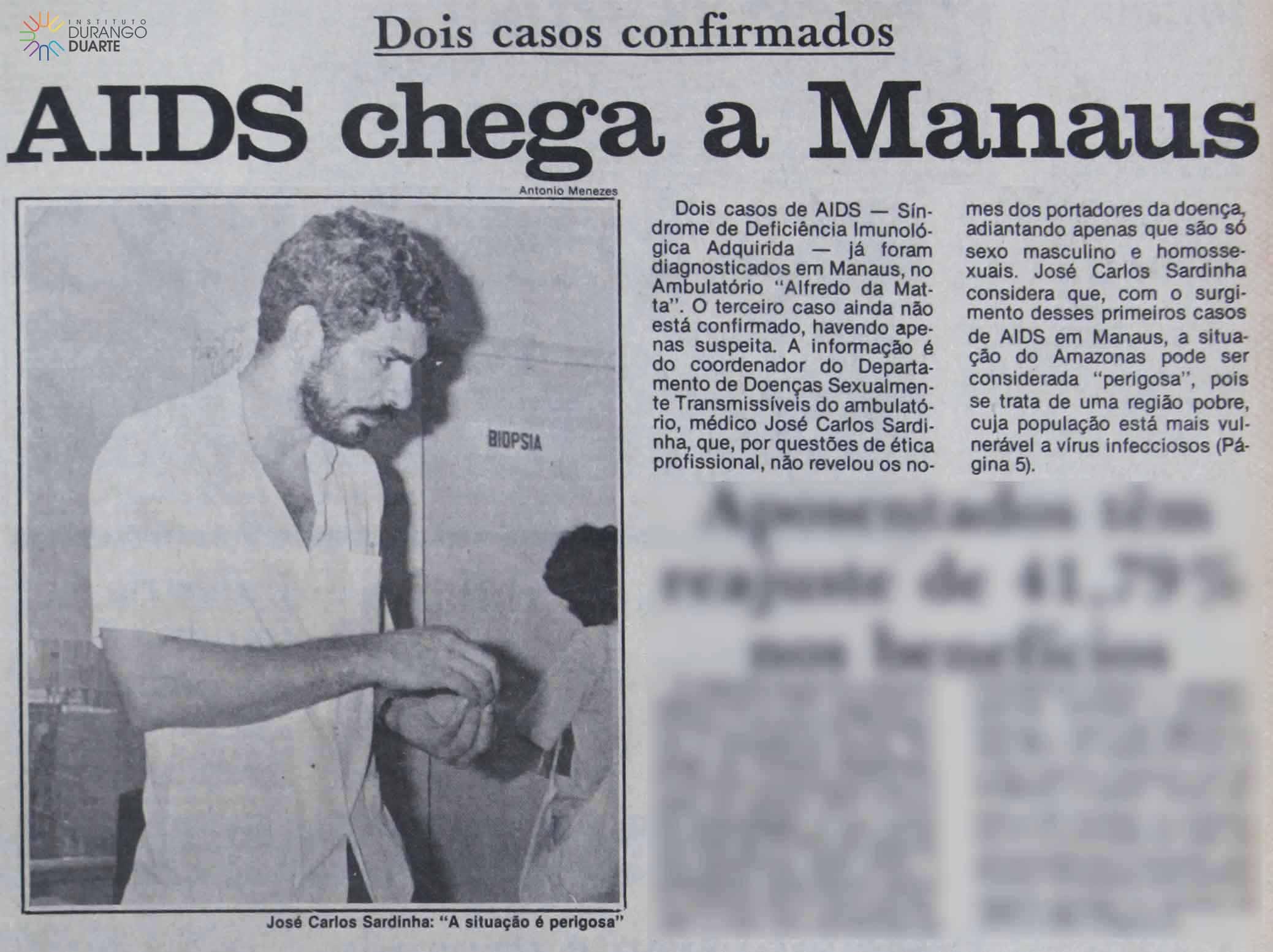 Primeiros Dois Casos de AIDS Confirmados em Manaus