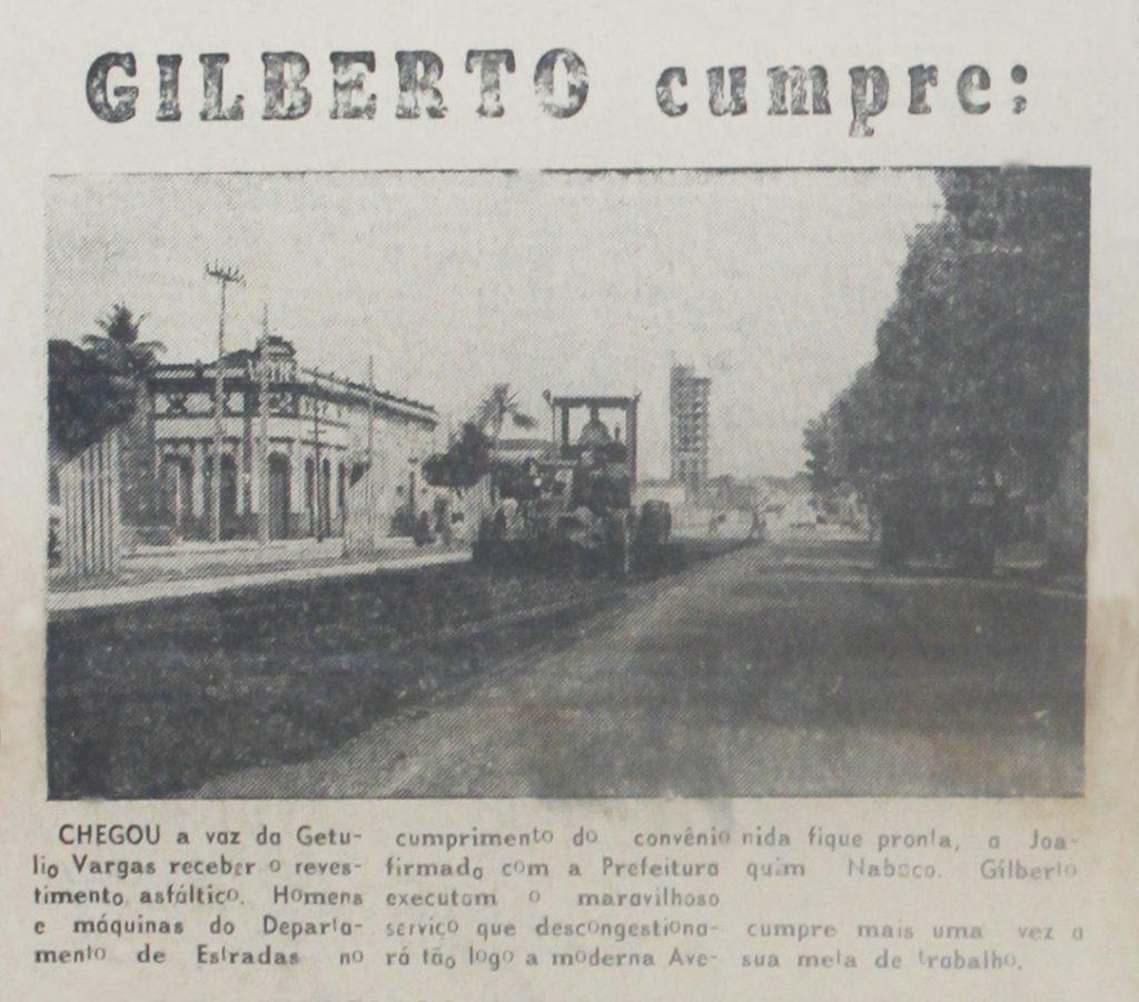 Asfaltamento da Avenida Getúlio Vargas