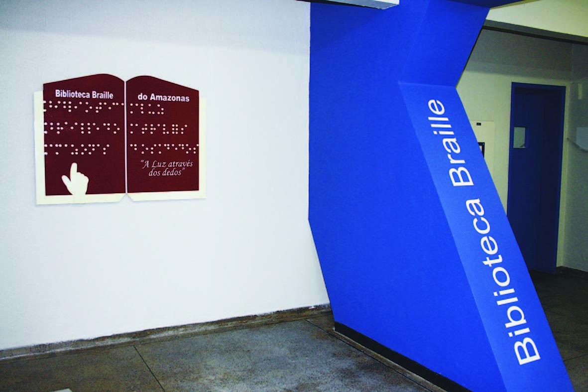 Entrada da Biblioteca Braille