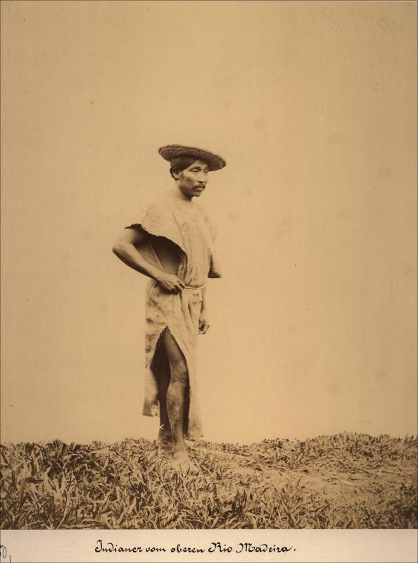 Imagem de indígena no Rio Madeira