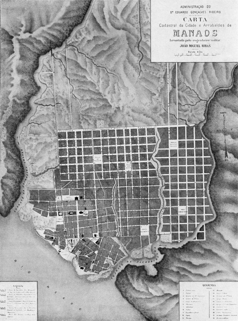 Carta Cadastral da Cidade e Arrabaldes de Manáos