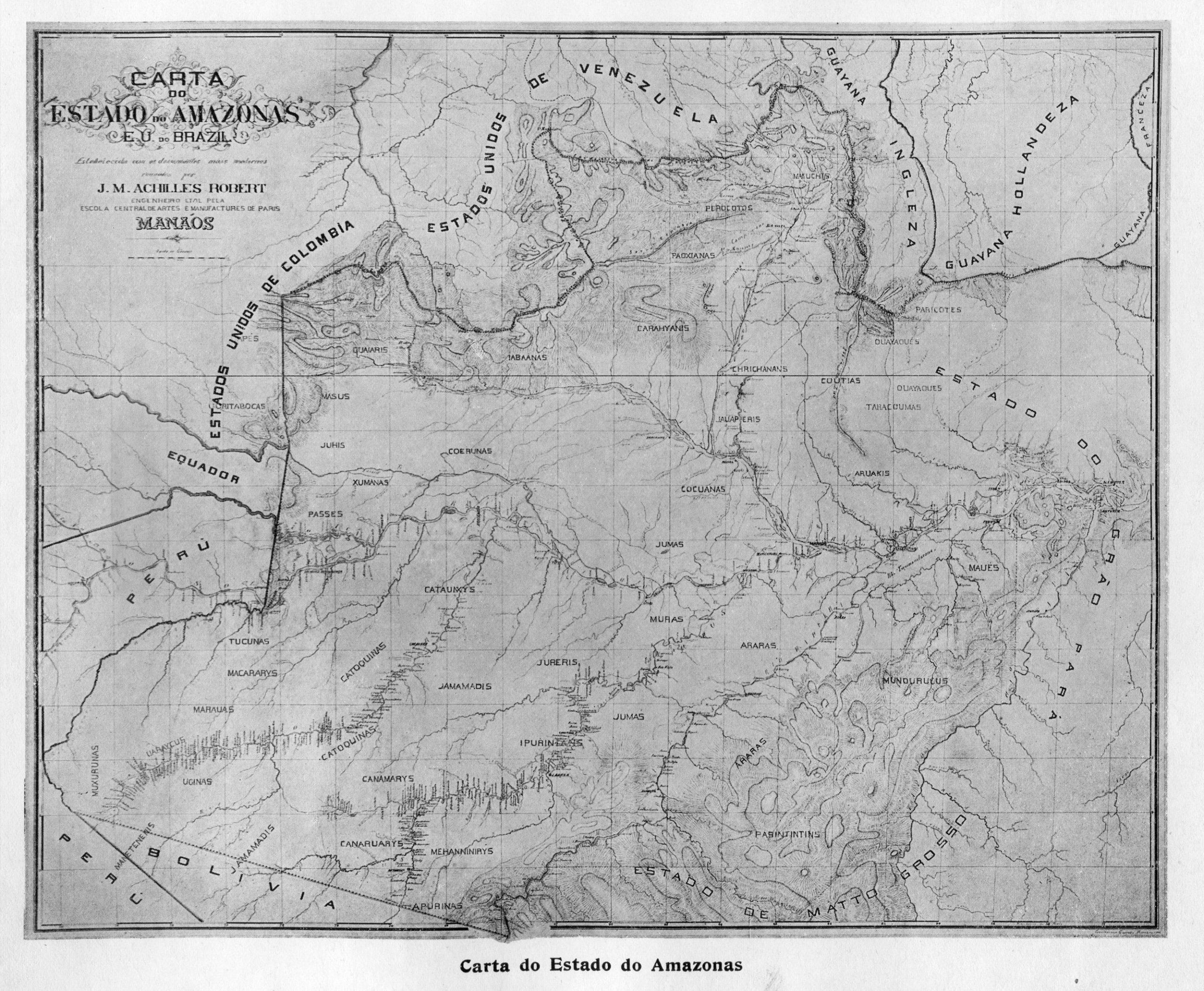 Carta Geográfica do Estado do Amazonas