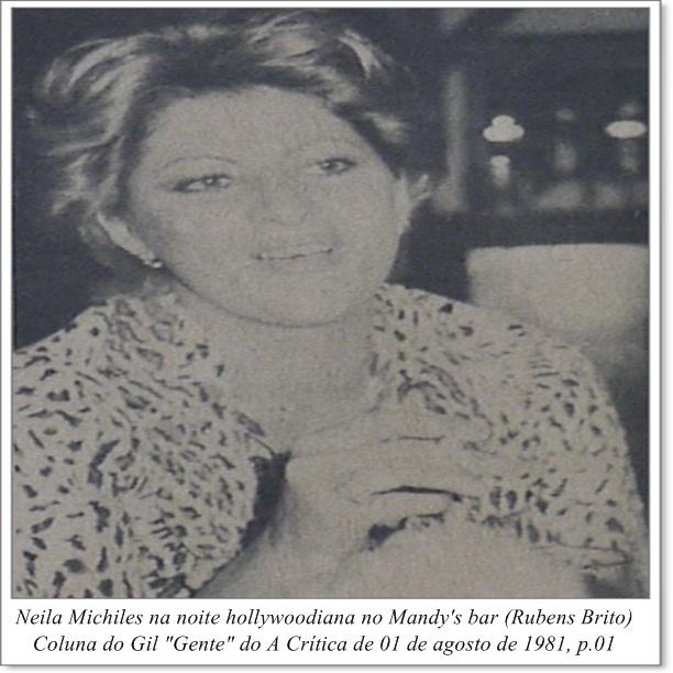 Neila Michiles em noite hollywoodiana - Instituto Durango Duarte 1981