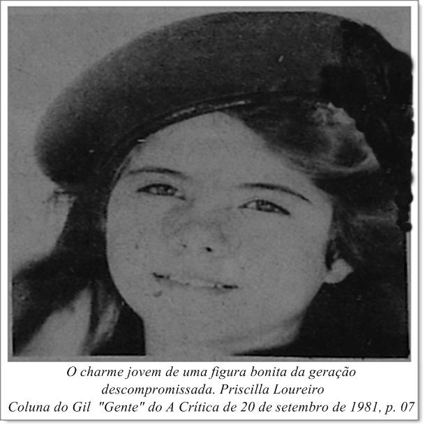 O charme de Priscilla Loureiro - Instituto Durango Duarte 1981