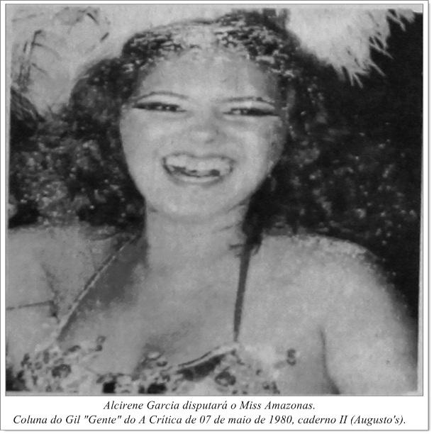 Alcirene Garcia na disputa do Miss Amazonas - Instituto Durango Duarte 1980