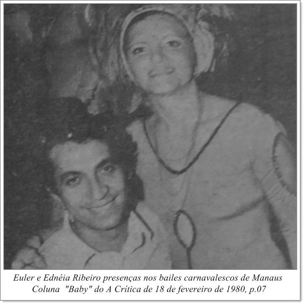 Euler e Ednéia Ribeiro no carnaval - Instituto Durango Duarte 1980