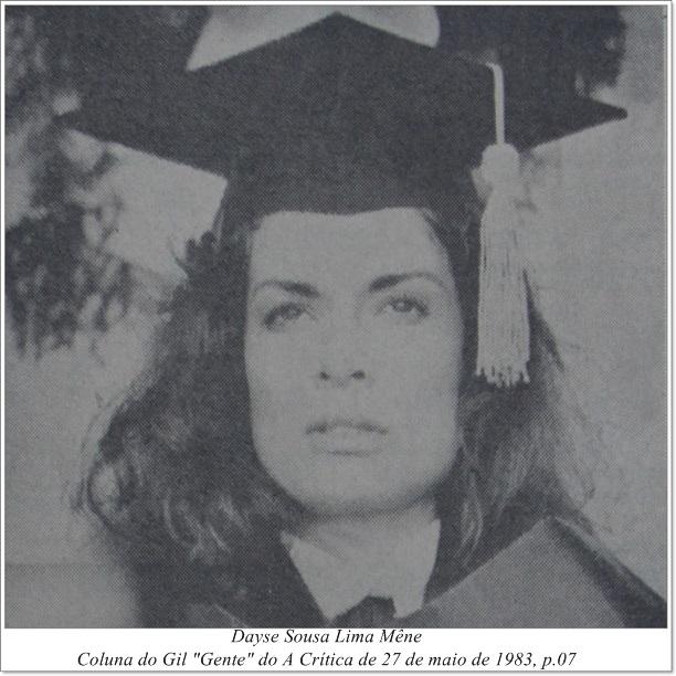 A formatura de Dayse Sousa Lima Mêne - Instituto Durango Duarte 1983