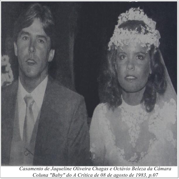 Casamento de Octávio Câmara e Jaqueline Chagas - IDD 1983