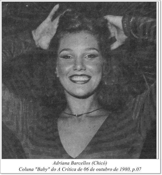 O largo sorriso de Adriana Barcellos - Instituto Durango Duarte 1980