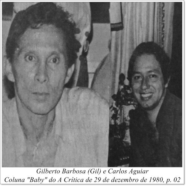 Fotografias dos colunistas, Gil e Carlos Aguiar - Instituto Durango Duarte 1980