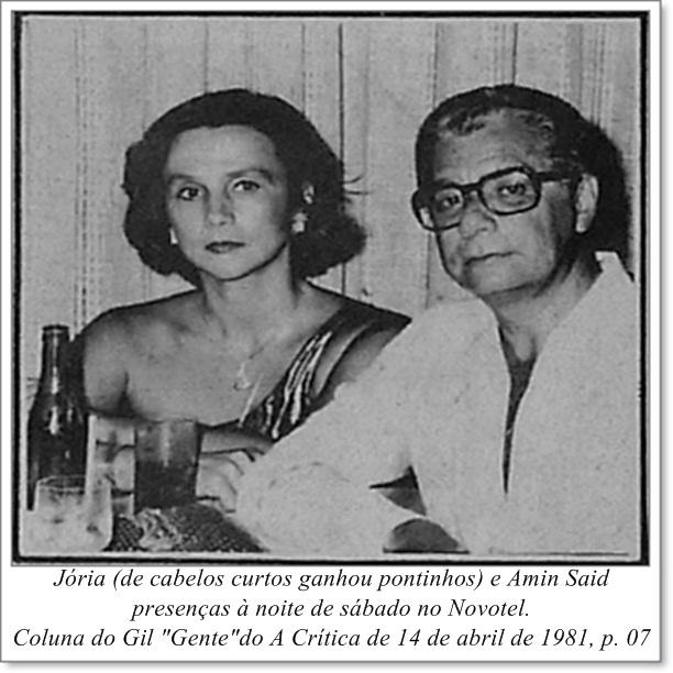 Jória e Amin Said no Novotel - Instituto Durango Duarte 1981