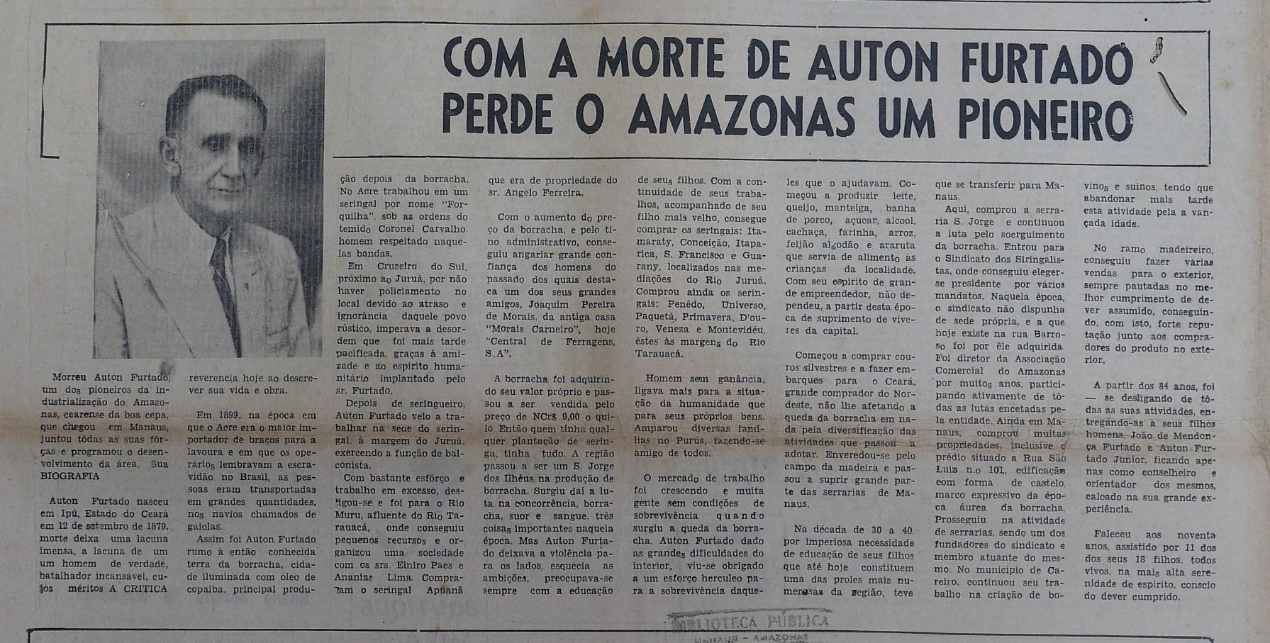 Amazonas perde Auton Furtado