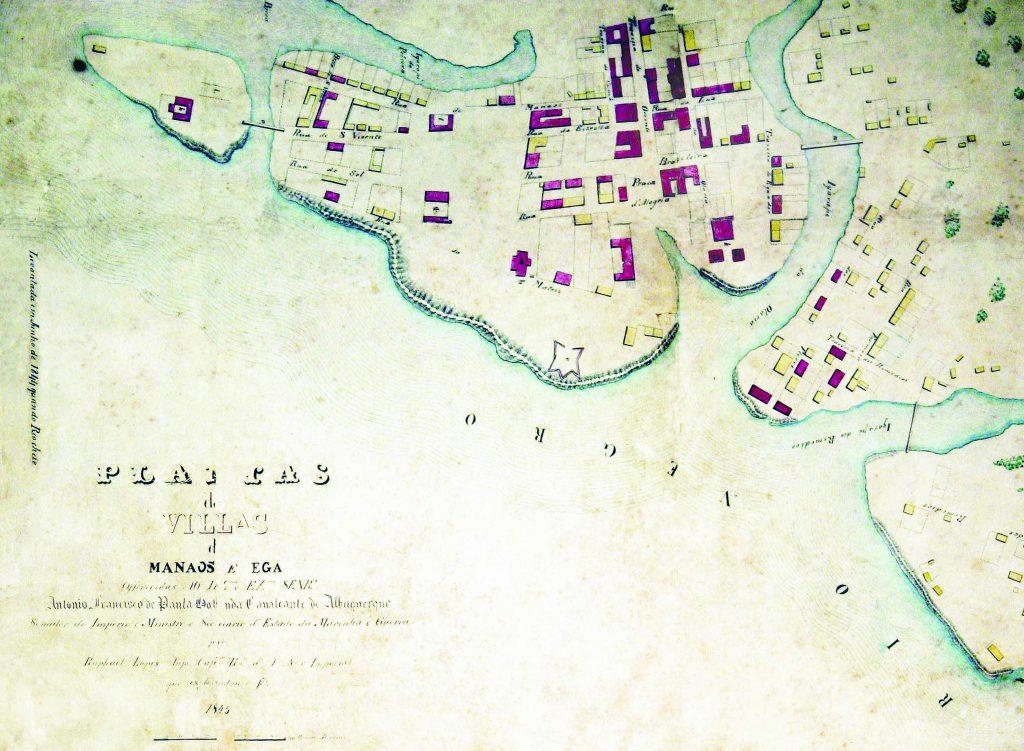 Detalhe das Vilas de Manáos e Ega