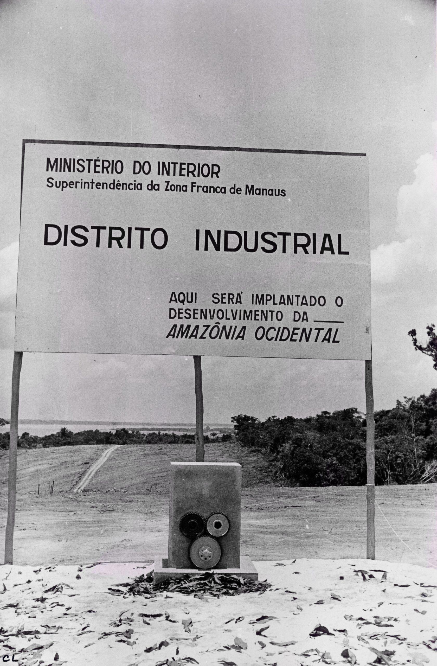 Placa de implantação do Distrito Industrial - Instituto Durango Duarte