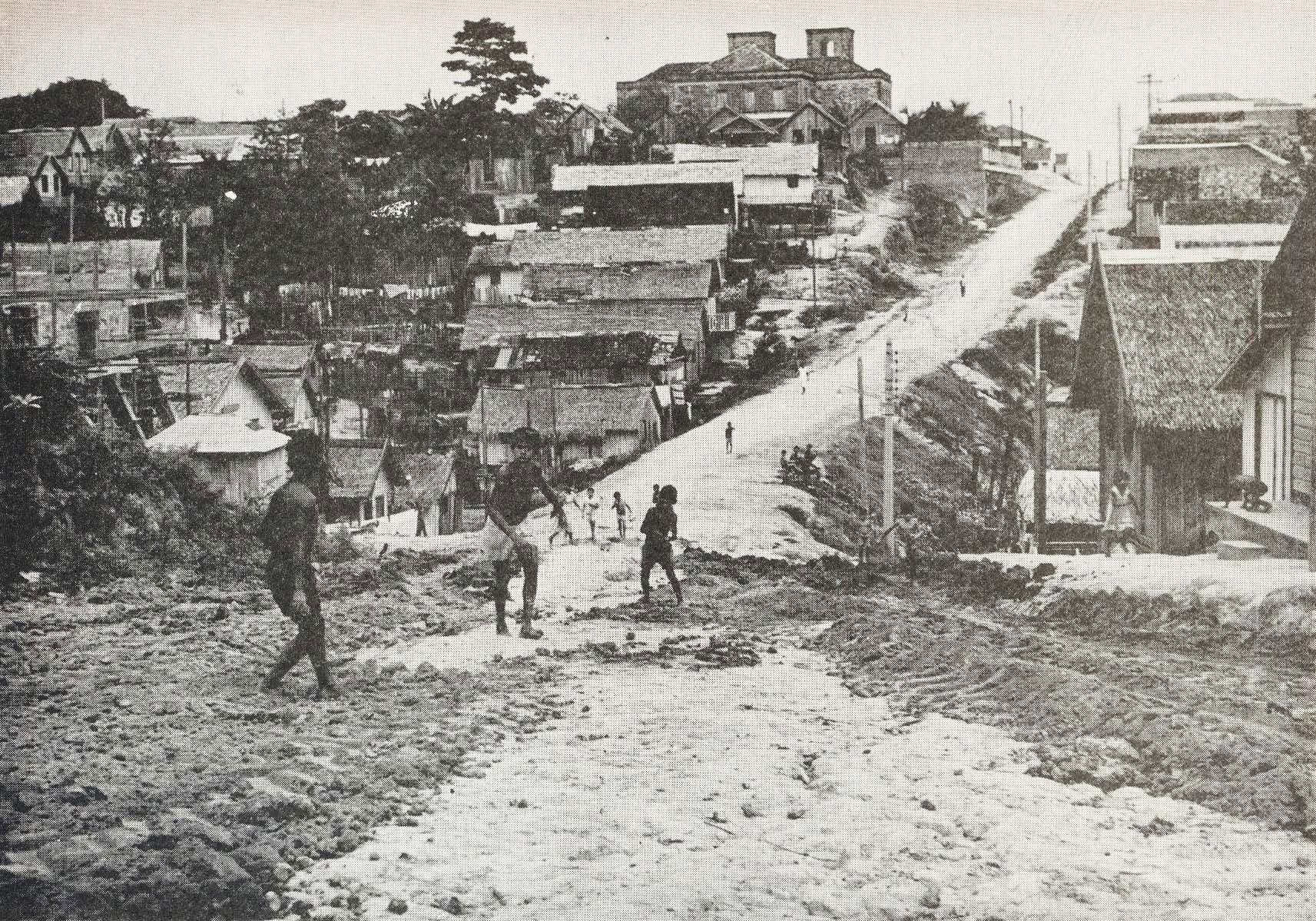 Imagem de uma das ruas do Bairro de Educandos