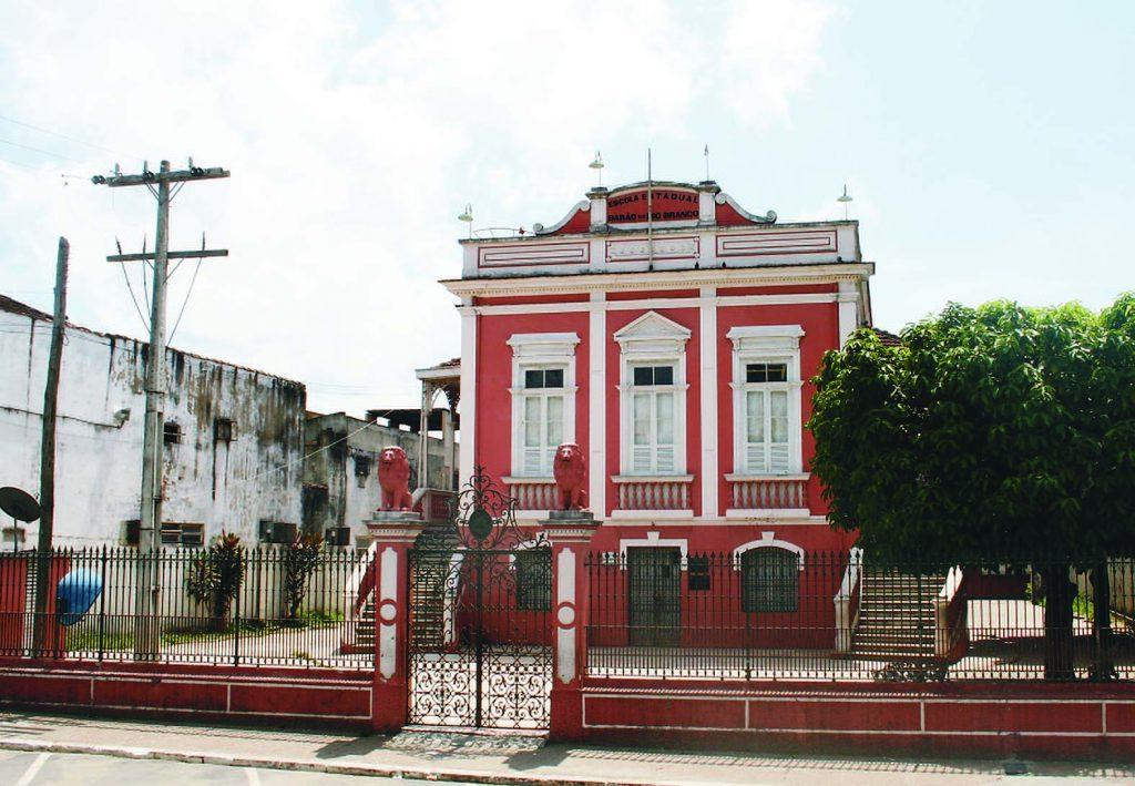 Fachada da Escola Estadual Barão do Rio Branco