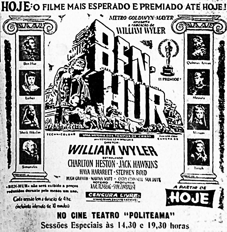 Anúncio do Lançamento do Filme Ben-Hur