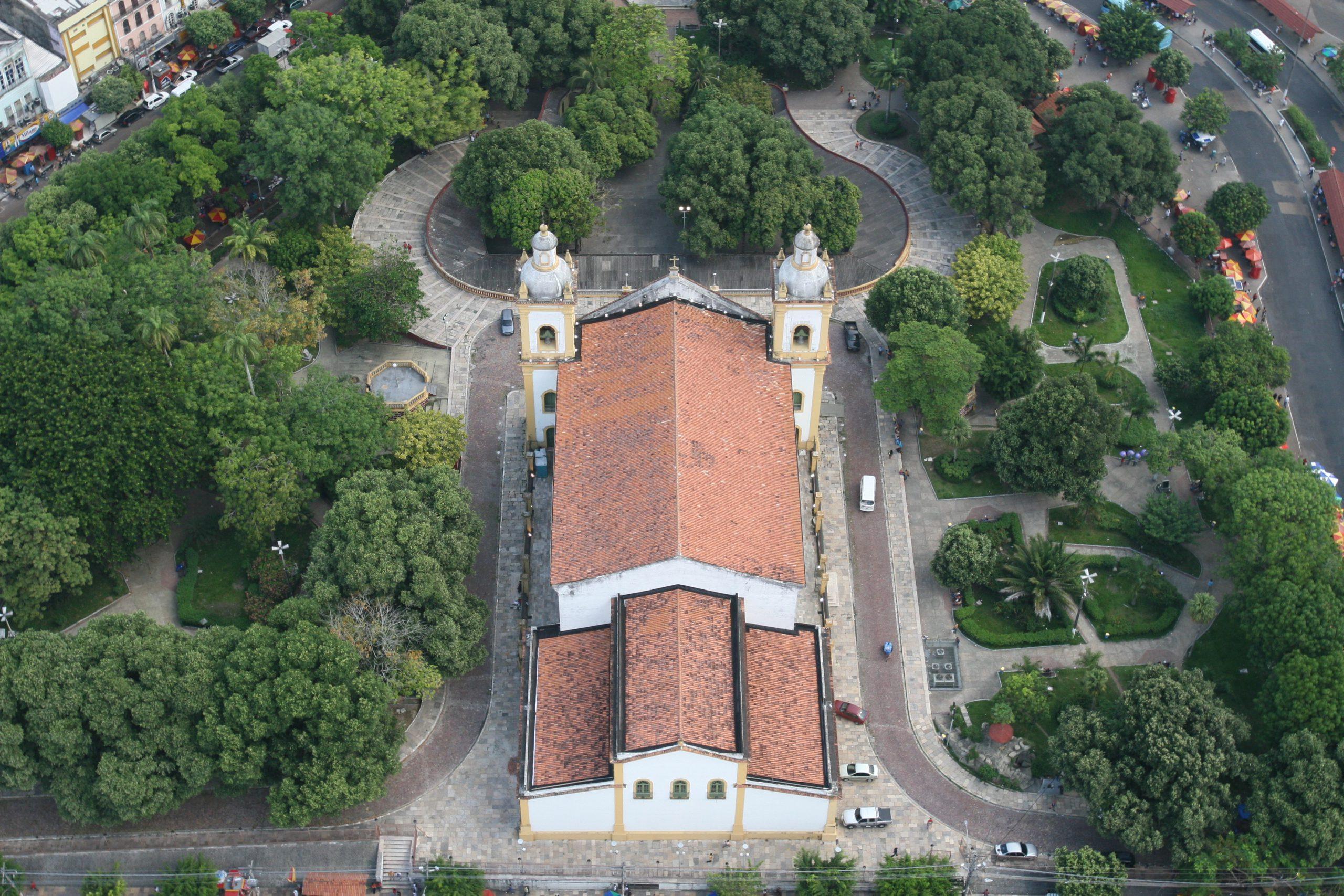 Vista aérea da Igreja Matriz de Manaus - Instituto Durango Duarte 2007