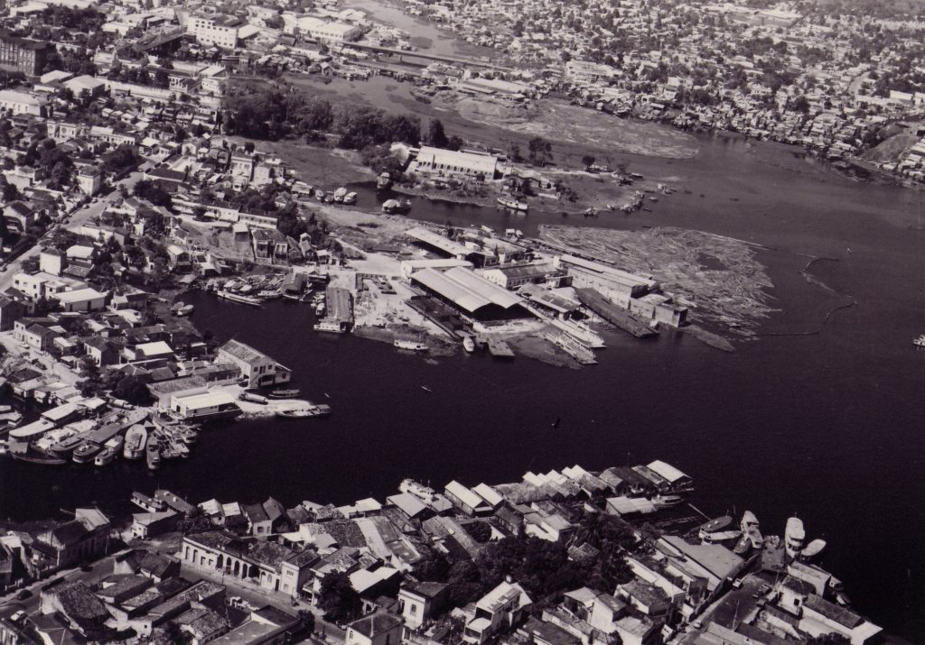 Vista aérea da extinta Ilha do Caxangá - Instituto Durango Duarte