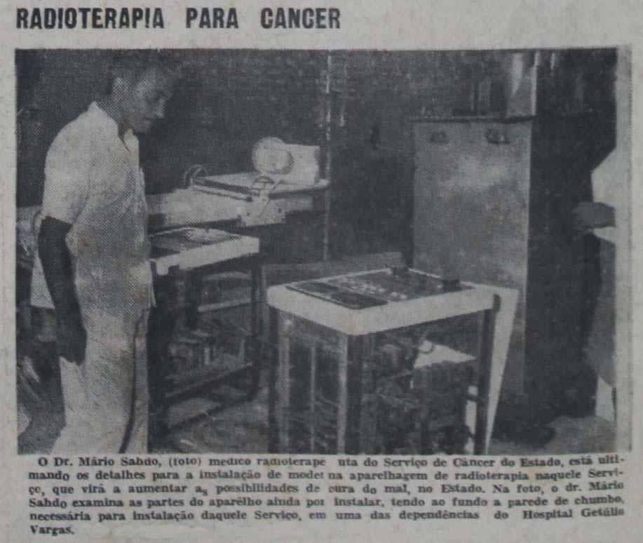 Instituto Durango Duarte - Instalação do Aparelho de Radioterapia