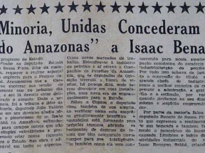 Isaac Sabbá, o Novo Cidadão do Amazonas