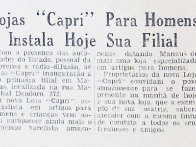 Inauguração da Lojas Capri em Manaus