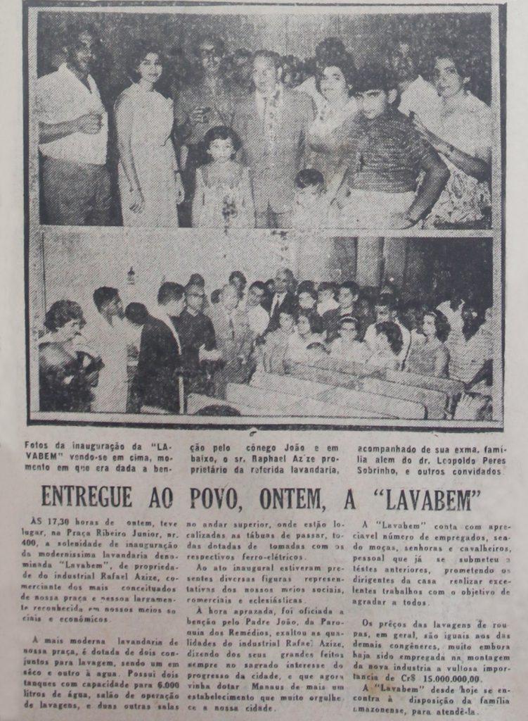 Inauguração da Lavanderia Lavabem
