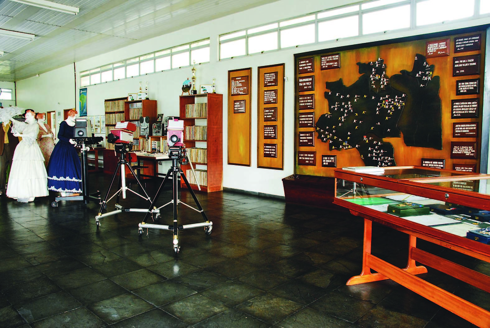 Interior do Museu da Rede Amazônica